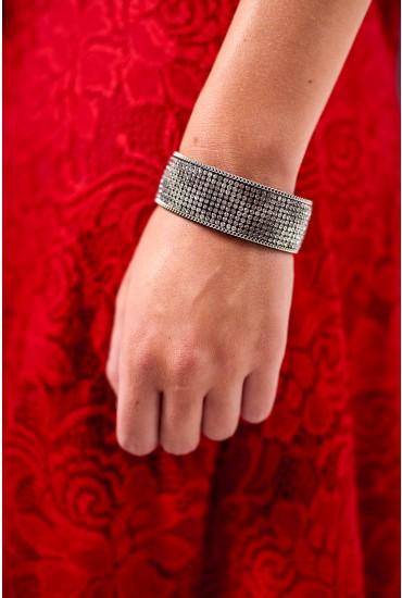 Juliet Glitter Cuff in Silver
