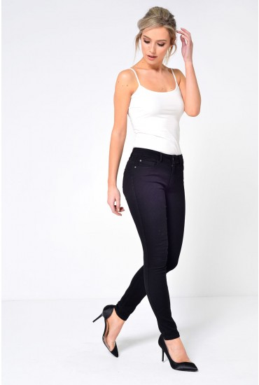 Ultimate Short Super Stretch Skinny Jeans in Black