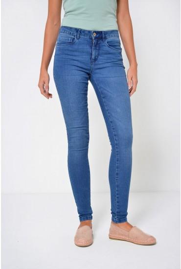 Royal Short Skinny Jeans in Medium Blue