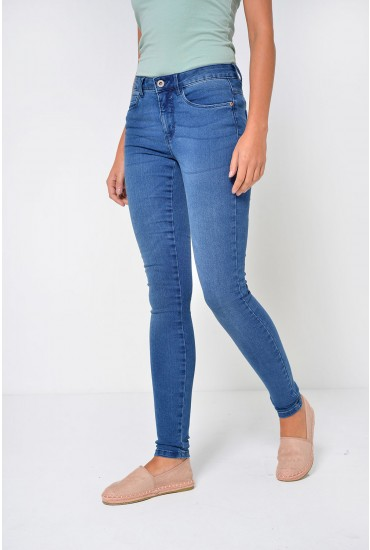 Royal Long Skinny Jeans in Medium Blue