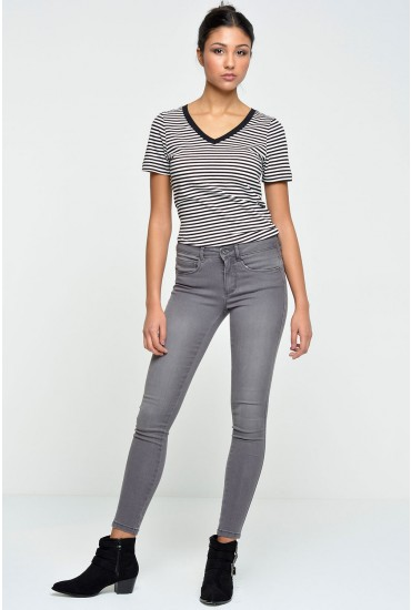 Royal Short Length Skinny Jeans in Grey