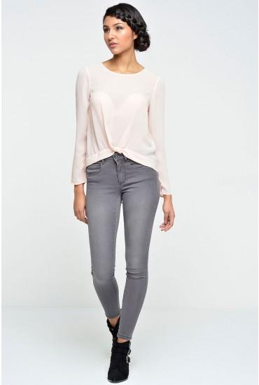 Royal Regular Length Skinny Jeans in Grey