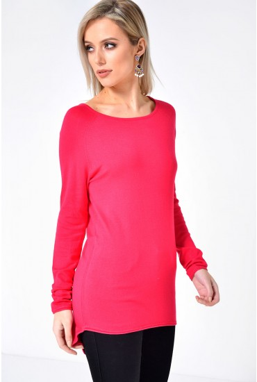 Mila Lacy L/S Pullover Knit in Pink