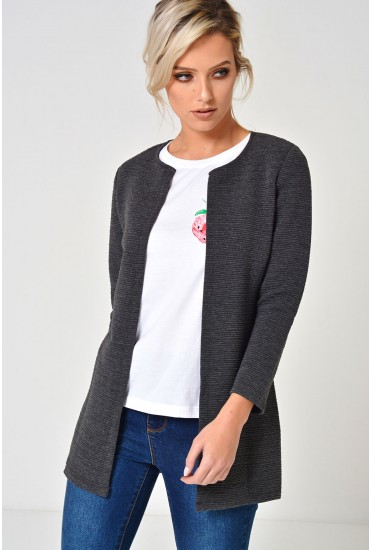 Leco Cardigan in Dark Grey