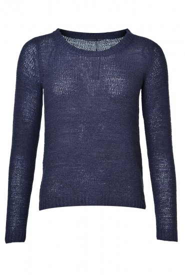 Geena XO L/S Knit Pullover in Navy