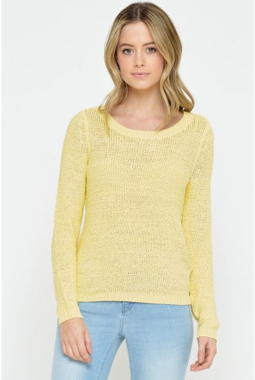 Geena XO L/S Pullover in Yellow