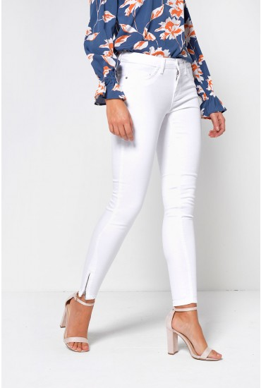 Kendell Ankle Length Skinny Jeans in White