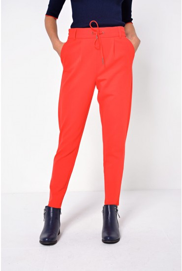 Poptrash Regular Easy Colour Pant in Red