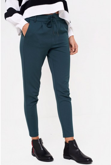 Poptrash Long Length Pant in Dark Green