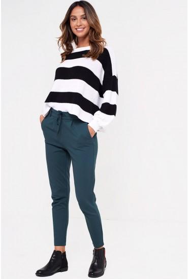 Poptrash Short Length Pant in Dark Green