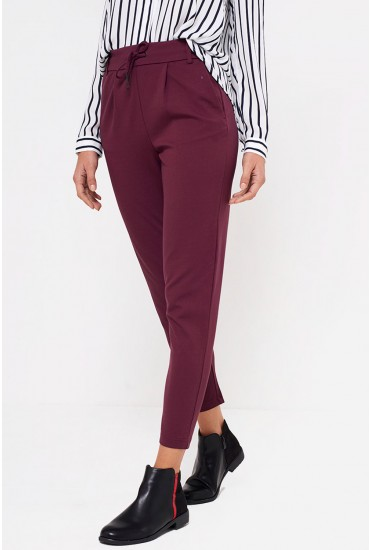 Poptrash Long Length Pant in Wine
