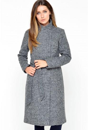Houston Long Wool Coat in Dark Grey