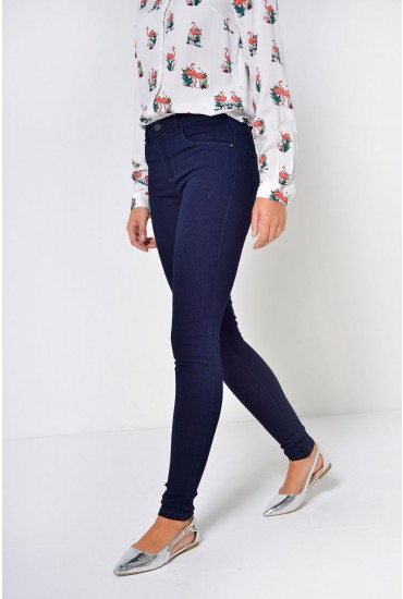 Rain Regular Skinny Jeans in Dark Blue