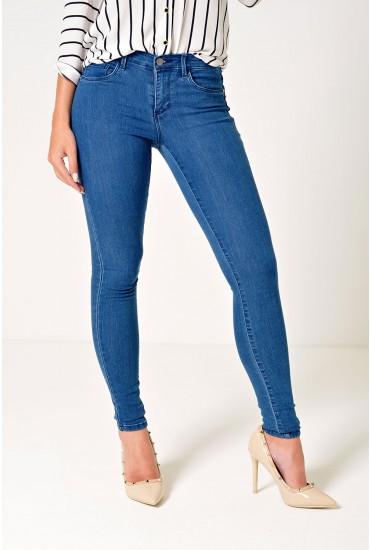 Rain Regular Skinny Jeans in Medium Blue