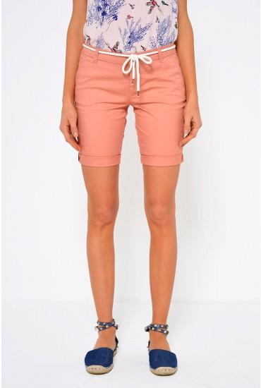 Paris Belt Shorts in Pink