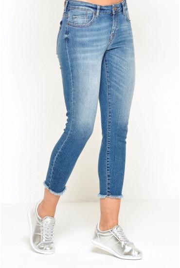 Carmen Regular Crop Frayed Jeans