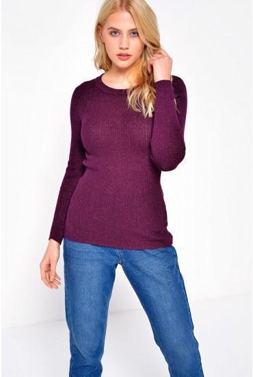 Dea Lurex Pullover in Purple