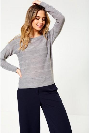 Pulli L/S Pullover in Light Grey