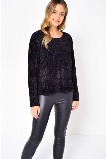 Mine Cropped Knit in Black