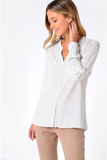 First Polka Dot L/S Shirt in Cream