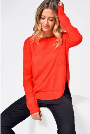 Caviar L/S Pullover in Red