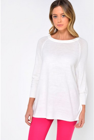 Mathison Pullover Knit in White