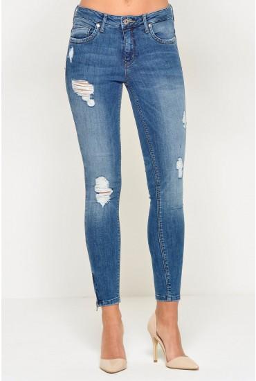 Kendell Short Skinny Jeans in Medium Blue