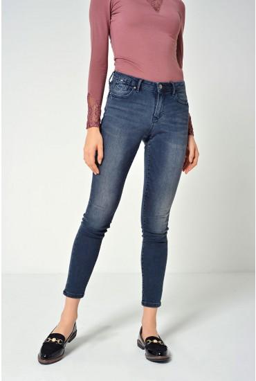 Carmen Short Skinny Jeans in Dark Blue