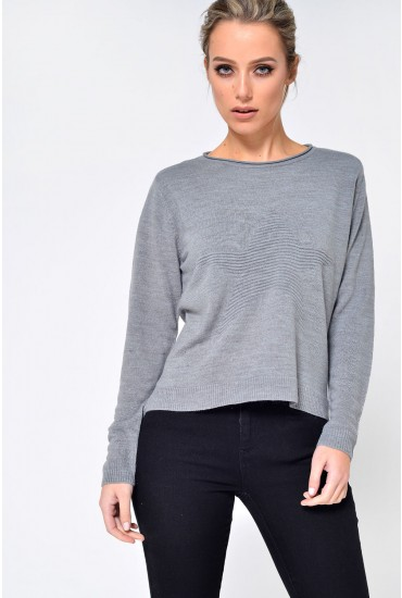 Stardust L/S Starprint Jumper in Grey