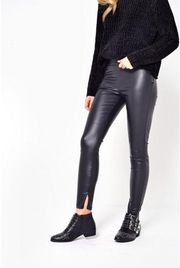 Dallas Regular PU Leggings in Black