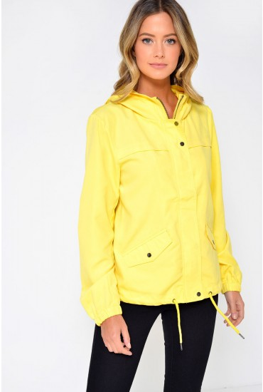 Shine Parka Jacket in Yellow