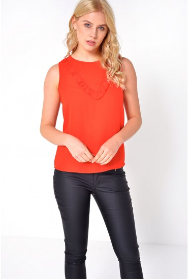 Pinar Frill Top in Red