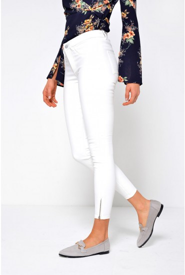 Kendell Short Coated Pant in Off White