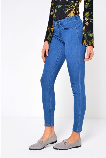 Rain Regular Push Up Jeans in Medium Blue