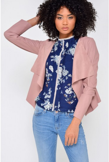 Soul Faux Leather Jacket in Rose