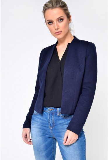 Donna Ricks Short Blazer in Navy