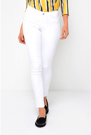 Ultimate Short King Jeans in White