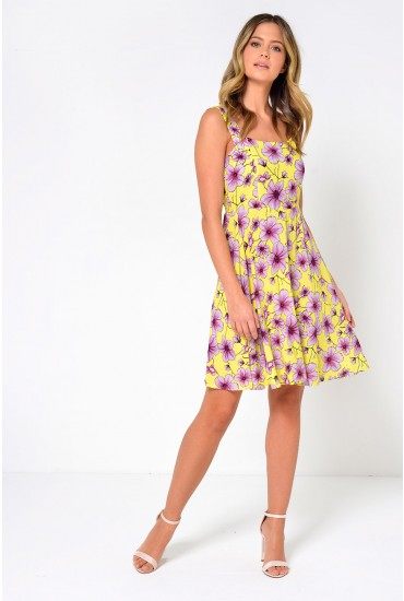 Victory Strap Dress in Yellow