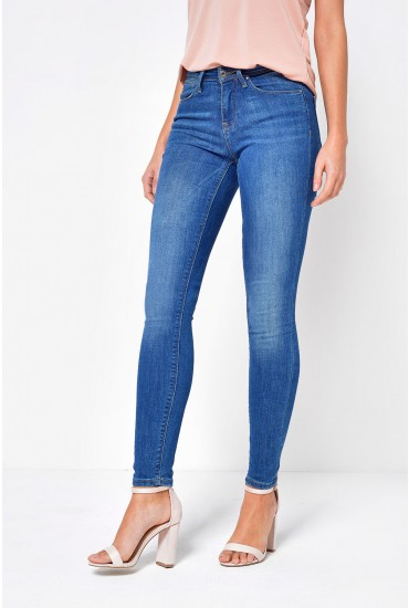 Carmen Regular Skinny Fit Jeans in Medium Blue Denim