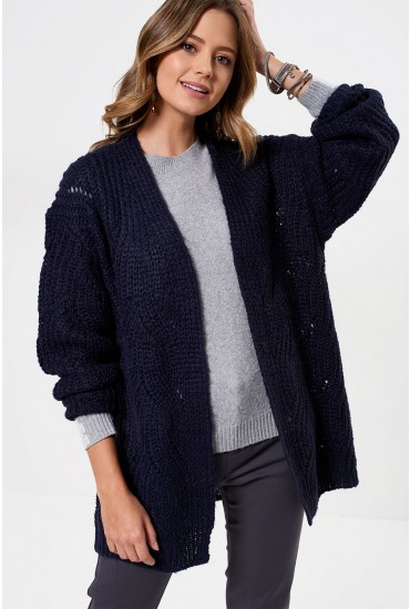 Havana Knitted Cardigan in Navy
