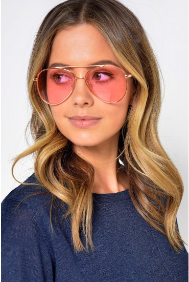 Nox Sunglasses in Aviator Pink