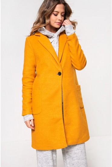 Astrid Oversized Coat in Mustard