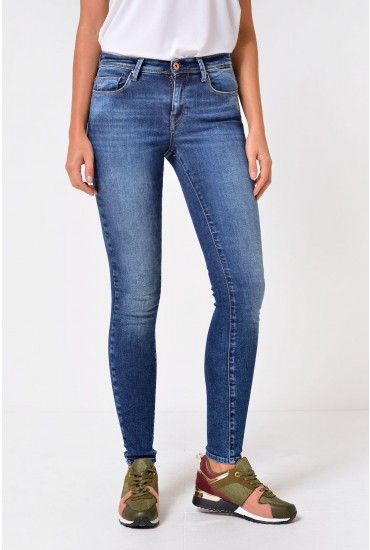Shape Up Short Skinny Jeans in Dark Wash Denim