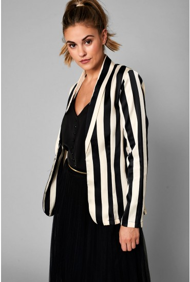 Faye Blazer in Black Stripe