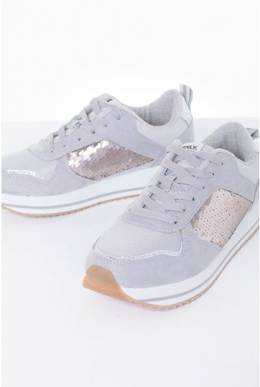 Smilla Sequin Runners in Grey