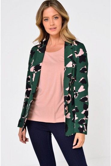 Nova Printed Blazer in Green