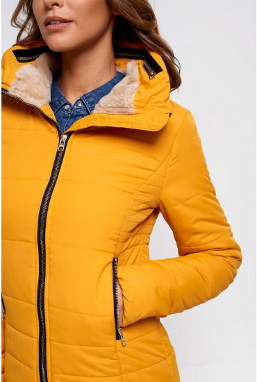 Brooke Nylon Padded Jacket in Golden Yellow