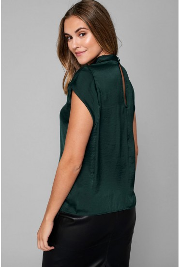Fibola Short Sleeve Top in Green
