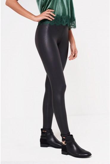 Ruby PU Leggings in Black