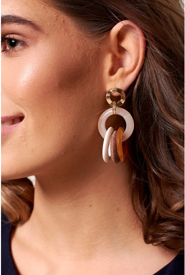 Libre Interlinked Hoop Earrings